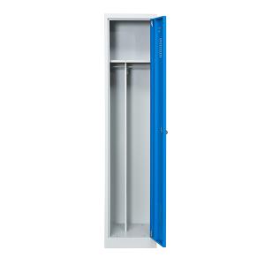 omklædningsskab, 1 døre, blå, bredere